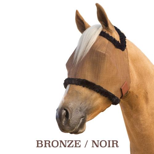 masque-anti-mouche-cheval-bronze-noir